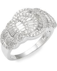 Effy - 14k White Gold & Baguette Diamond Ring - Lyst