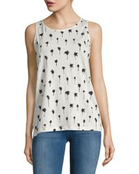 Workshop - Palm-print Tank Top - Lyst