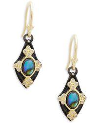 Armenta - Champagne Diamond & Gemstone Kite Earrings - Lyst