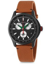 Gucci - Leather Strap Quartz Watch - Lyst