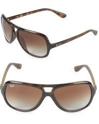 Ray-Ban - 59mm Square Aviator Sunglasses - Lyst