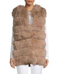 La Fiorentina - Dyed Fox Fur Bubble Vest - Lyst