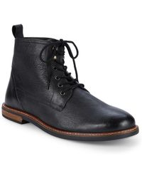 Ben Sherman - Brent Plain Toe Leather Ankle Boots - Lyst