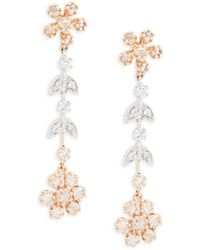Effy - Diamond, 14k White & Yellow Gold Dangle & Drop Earrings - Lyst
