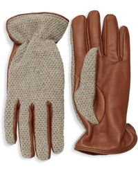Saks Fifth Avenue - Classic Textured Gloves - Lyst