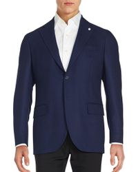 Lubiam - Solid Button-down Jacket - Lyst