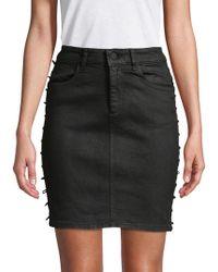 DL1961 - High-rise Denim Skirt - Lyst