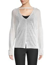 INHABIT - Multiway Draped Linen Top - Lyst