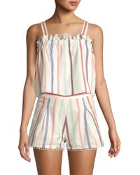 Red Carter - Cetera Striped Cotton Top - Lyst