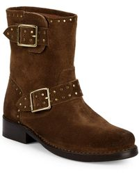 Frye - Vicky Stud Engineer Moto Boots - Lyst