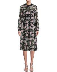 Avec Les Filles - Floral A-line Dress - Lyst