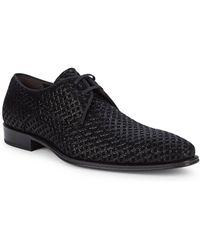 Mezlan - Textured Leather Derbys - Lyst