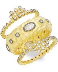 Freida Rothman - Crystal & Sterling Silver Rings - Lyst
