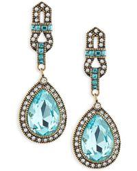 Heidi Daus - Long Teardrop Crystal Earrings - Lyst