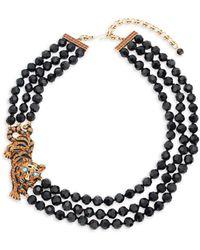 Heidi Daus - Tiger Beaded Crystal Multi-strand Necklace - Lyst