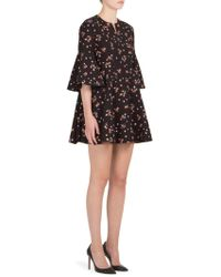 Carven - Printed Bell Sleeve Dress - Lyst
