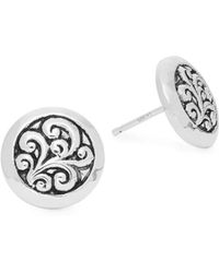 Lois Hill - Classic Sterling Silver Geometric Earrings - Lyst