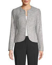 Anne Klein - Tweed Jacket - Lyst