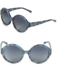 Michael Kors - 55mm Round Sunglasses - Lyst
