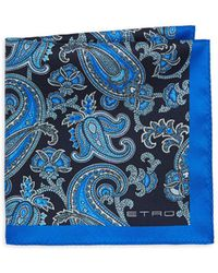 Etro - Double-face Silk Pocket Square - Lyst
