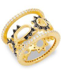 Freida Rothman - Crystal Spike Oval Midi Ring - Lyst