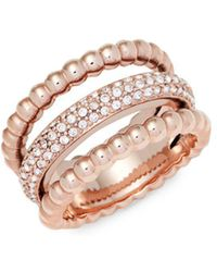 Swarovski - Click Crystal Midi Ring - Lyst
