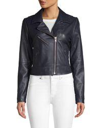 Wythe NY - Classic Leather Moto Jacket - Lyst