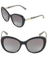 d6df26d64e66 Lyst - Giorgio Armani 57mm Logo Detailed Gradient Sunglasses in Black