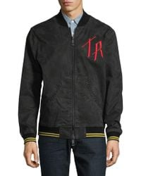True Religion - Embroidered Bomber Jacket - Lyst