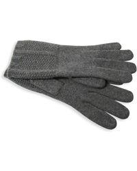 Portolano - Textured Cashmere Gloves - Lyst