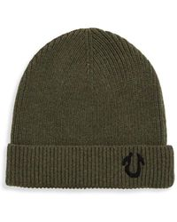 True Religion - Ribbed Beanie - Lyst