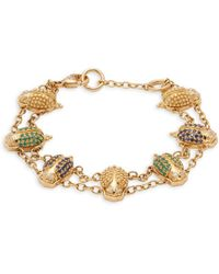Temple St. Clair - Diamond, Crystal And 18k Yellow Gold Bracelet - Lyst