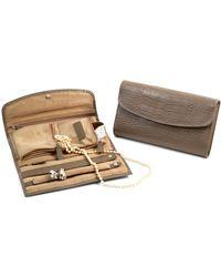 Bey-berk - Embossed Leather Jewellery Clutch - Lyst