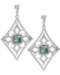 Armenta - New World Diamond & Gemstone Triplet Drop Earrings - Lyst