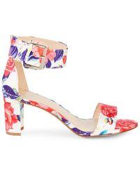 Nine West - Floral Stack Heel Sandals - Lyst