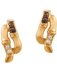 Le Vian - 14k Honey Gold Vanilla Diamonds® & Chocolate Diamonds Chocolatier Earrings - Lyst