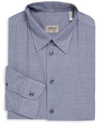 Armani - Slim-fit Textured Dress Shirt - Lyst