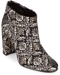 9a2a20d53 Sam Edelman -  cambell  Floral Damask Ankle Boots - Lyst