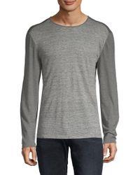 John Varvatos - Linen Striped T-shirt - Lyst