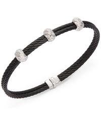 Charriol - Celtic Noir Diamond & Stainless Steel Bracelet - Lyst