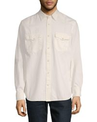 Jean Shop - Cotton Button-down Shirt - Lyst