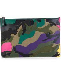 Valentino - Camouflage Zip Pouch - Lyst