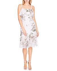 RACHEL Rachel Roy - Tiered Printed Lace Midi Dress - Lyst