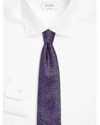 Eton of Sweden - Embroidered Silk Tie - Lyst