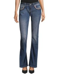 Miss Me - Embroidered Bootcut Jeans - Lyst