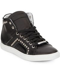 Alessandro Dell'acqua - Studded High-top Leather Sneakers - Lyst