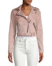 C&C California - Zip Belted Jacket - Lyst