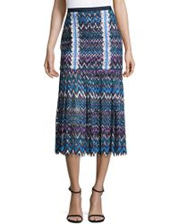 Saloni - Pleated Midi Skirt - Lyst