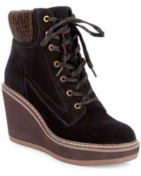 Tommy Hilfiger - Solene Suede Lace-up Boots - Lyst