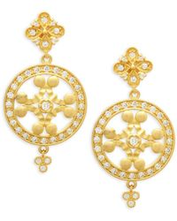 Freida Rothman - Pave Large Wheel Earrings - Lyst